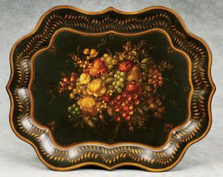 Metal Tray painted by Peter Ompir