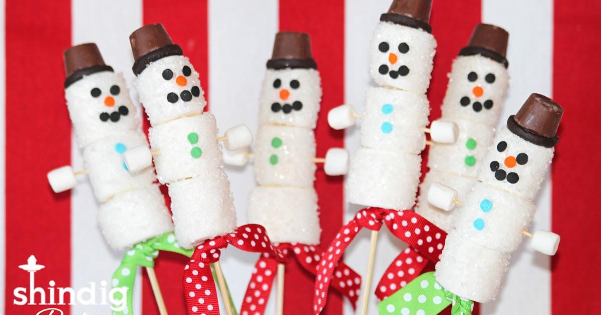 Amanda's Parties To Go: Marshmallow Snowman Treats