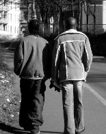 black men holding hands