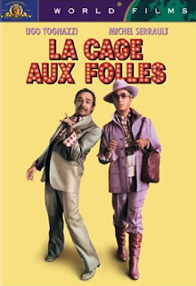 Ugo Tognazzi and Michel Serrault on the poster of La Cage aux Folles