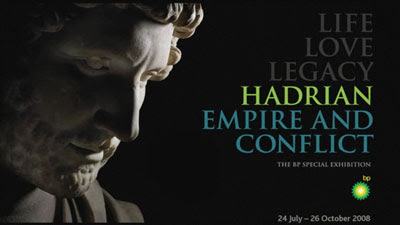 visual for the exhibition Hadrian: Empire and Conflict