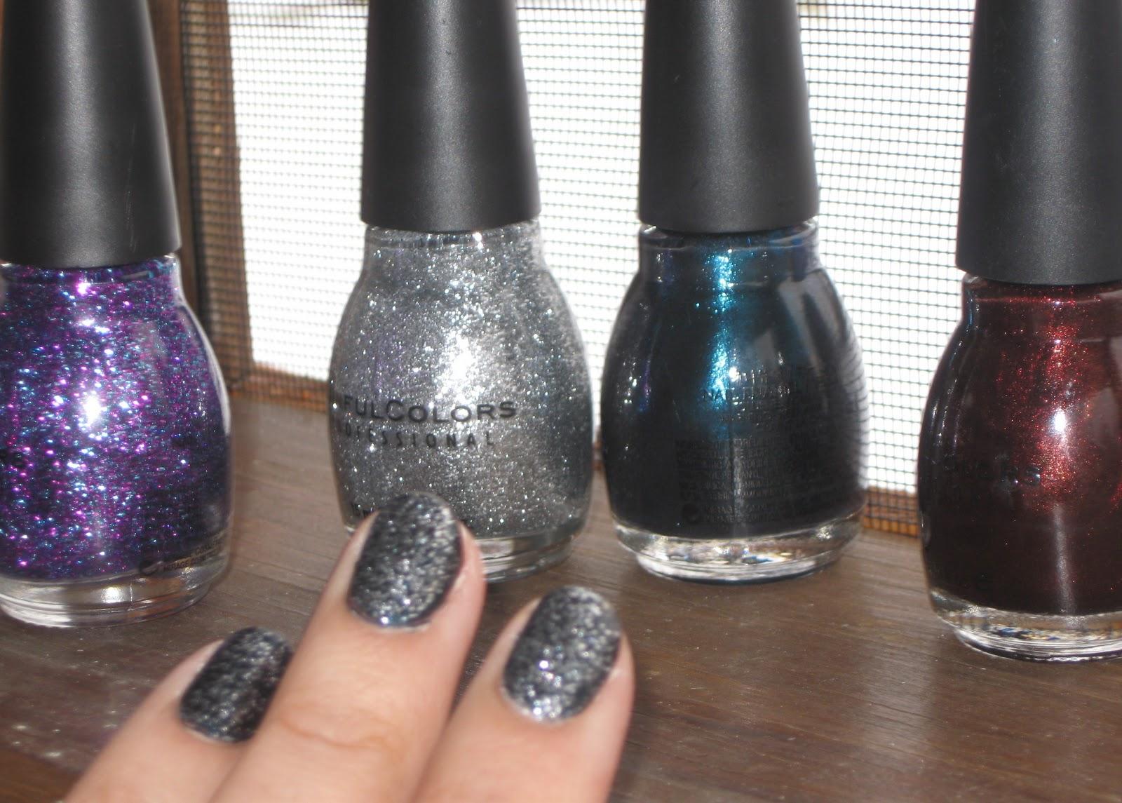 glitter galaxy nails DIY | Soccer Mom Style