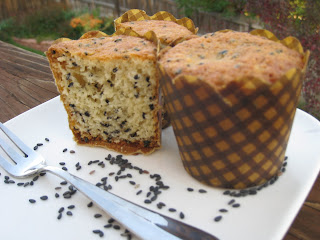 Black Sesame Seeds Cake