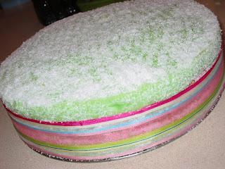 Pandan Kaya Fudge Cake