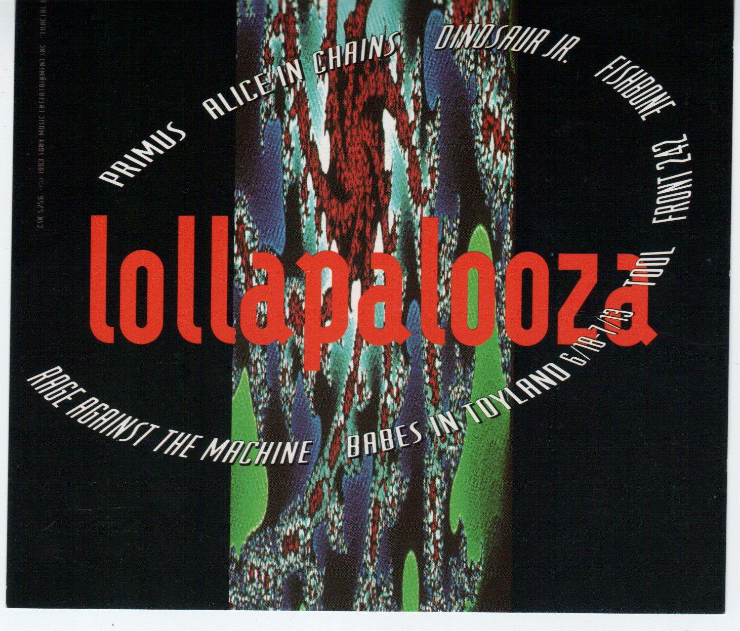 Lollapalooza 1993 tour dates in Sydney