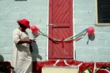 Pastor's Wife Cutting the Ribbon