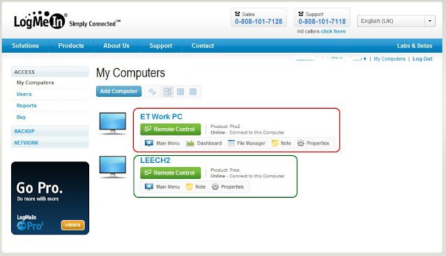Logmein inc remote access plugin download