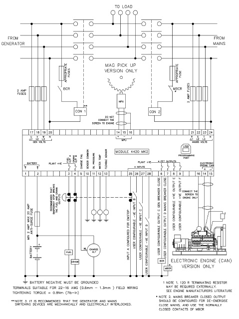 amf panel circuit diagram