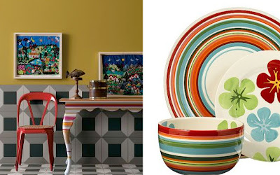 (row 1 Melody stripe dining table $1298.00 Anthropologie; Tropical stripe dinnerware $24.99 Target). & Toast and Tables: Stripe it rich: Up down or all around there\u0027s ...
