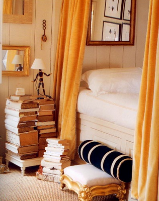 I Think This Is The Kind Of Bed My Sister Would Dream Of. Bed Side Table  Made From Books To Read.And A Big Mirror To See Herself In The Morning(I  Dont ...
