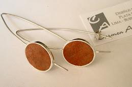 Aretes ganchos con Jaspe naranja