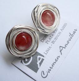 Aretes Rosas Cherry