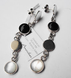Aretes Burbujas white and black