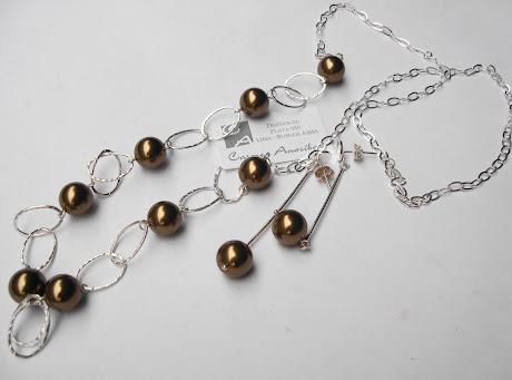 Collar largo con perlas Swarovski