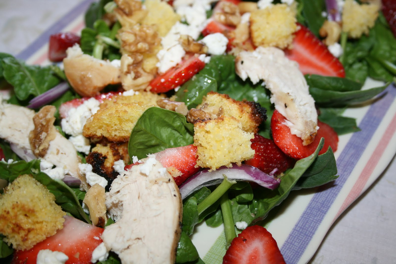 ... Pennywise: Mother's Day Chicken-Spinach Salad with Strawberry Dressing