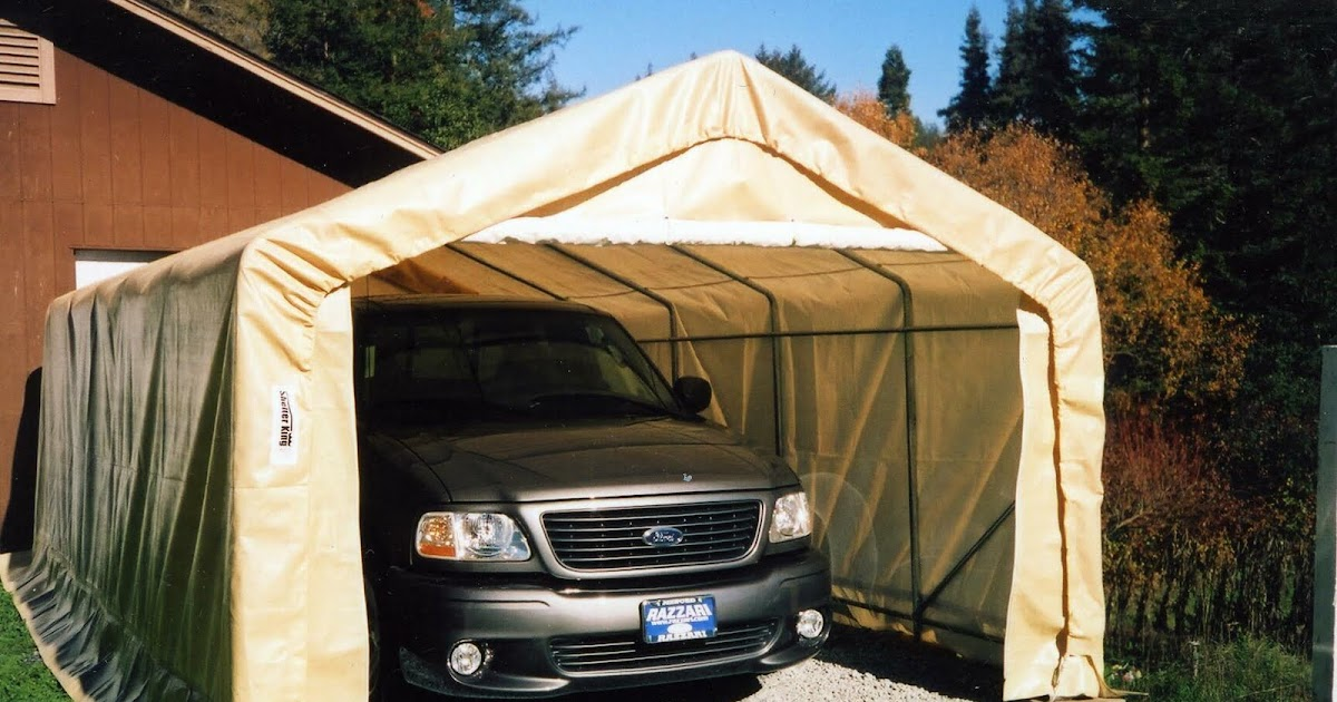 Fiberglass Portable Garage : Portable garage shelter king instant garages storage