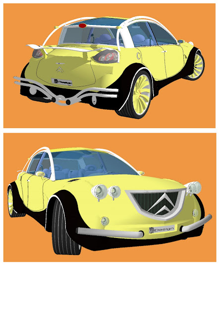 design automobile sur sketchup