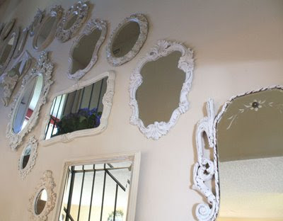 Mirror mirror on the wall mirror collages dishes and for Mirror collage wall