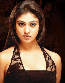 Nayanthara romantic look in Sleeveless