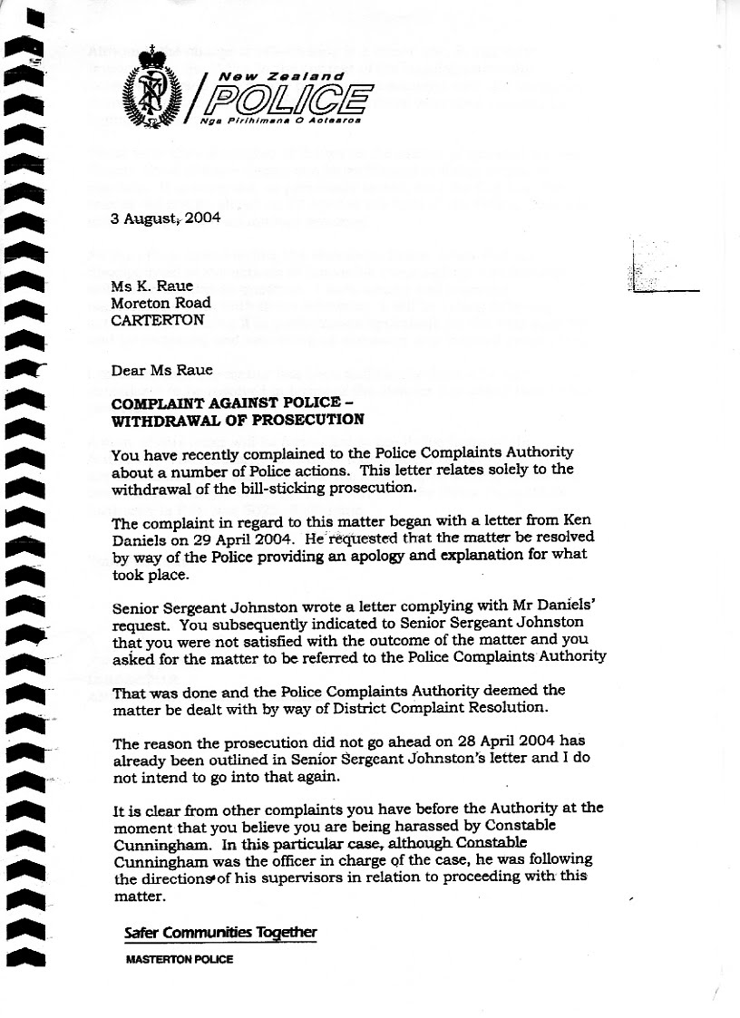 Transparency in New Zealand Kiwikileaks Wairarapa Police and