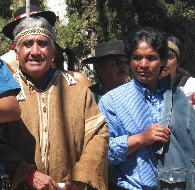 MARCHA EN NEHUEQUEN CONTRA LA MUNICIPALIZACION DEL TERRITORIO MAPUCHE