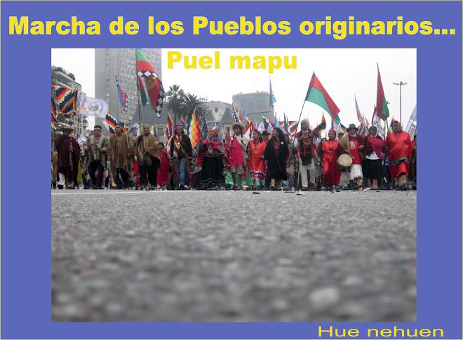 Marcha en Puel mapu