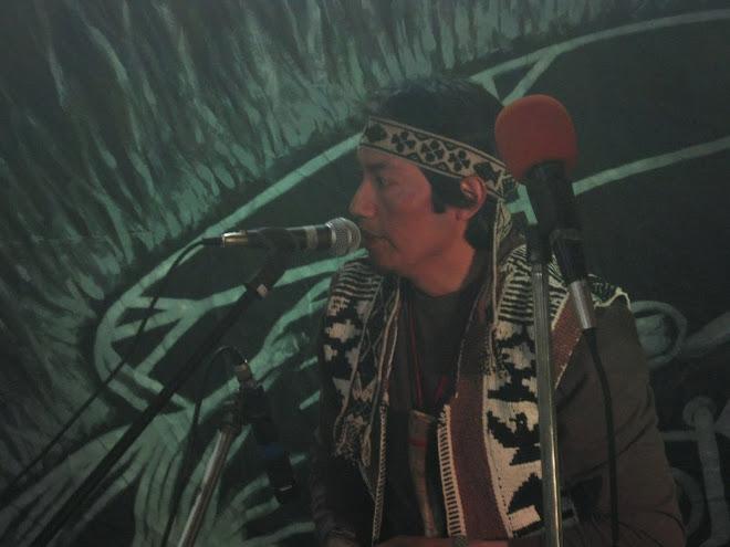 Claudio Puel integrante del grupo musical Mapuche COLLON