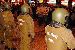 Marcha Mapuche en Santiago