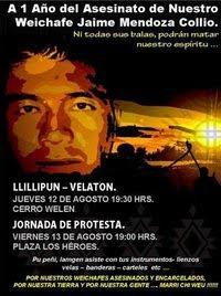 ...en apoyo presos Mapuche.