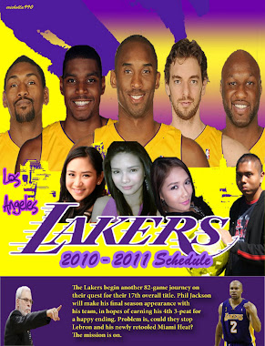My very own cover of the Lakers 2010-11 Schedule
