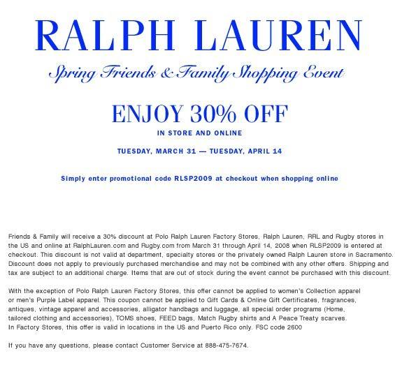 madison avenue spy ralph lauren friends and family. Black Bedroom Furniture Sets. Home Design Ideas