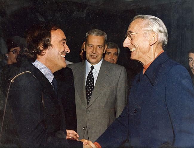 Félix Rodr�guez de la Fuente y Jacques Custeau.
