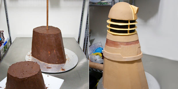 Dalek cake crated by fan missbegotten for Tardis template for cake