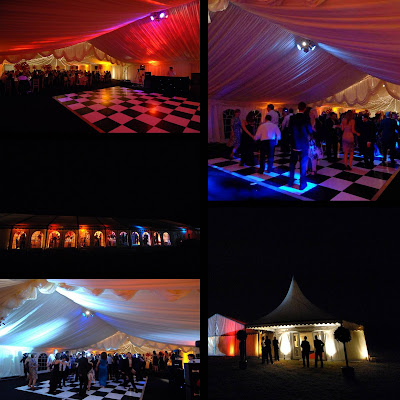 fairy light canopy 39s give another depth to the roof of a marquee