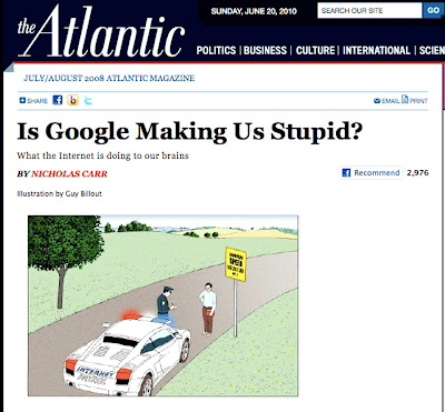 "is google really making us stupid essay Car uses a very effective method while writing his persuasive essay ""is google making us stupid "" carr clearly explains how he is in favor of how the internet is making us thing and how the internet is making us think differently."