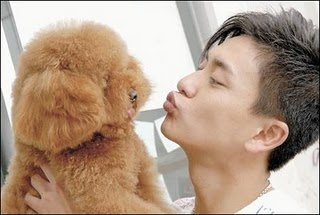 BOSCO WONG WITH HIS DOG