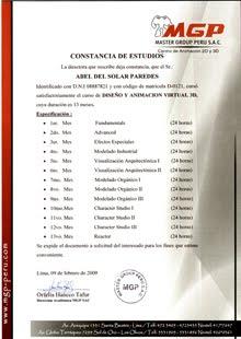 CONSTANCIA DE ESTUDIOS