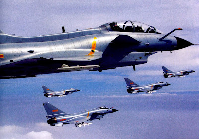 China's Air Force J-10 fighter plane force National Day ...
