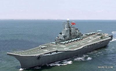 Porta-aviões chinês navega ainda este ano