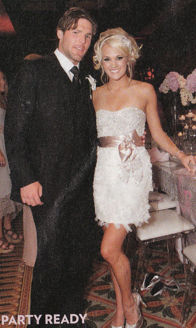 Always forever carrie underwood wedding carrie underwood opted for a chantilly lace and silk organza monique lhuillier gown for her july 10th wedding to canadian hockey player mike fisher 30 junglespirit Choice Image