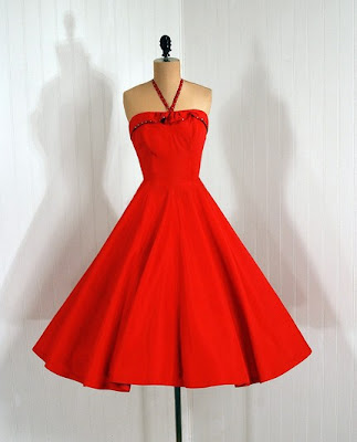 Haljine... Vintage+red+dress+3
