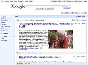 Google Reader dalam iGoogle