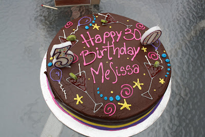 Melissa's 30th Birthday Cake