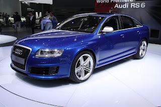 Audi rs6 sedan blue