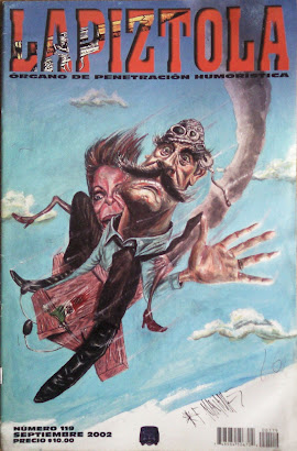 Porta para la revista Lapiztola , septiembre del 2002.