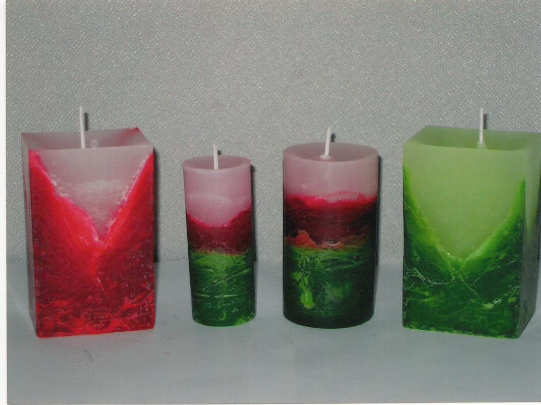 Velas artesanales veronique 39 s candles navide as for Velas navidenas
