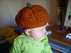 She fashioned this pumpkin hat for Elizabeth