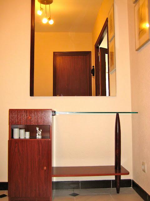 Mueble y espejo para recibidor el merkadillo vintage - Mueble para recibidor ...
