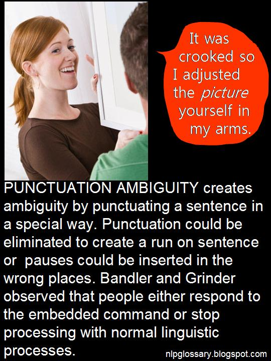 NLP GLOSSARY: NLP Punctuation Ambiguity