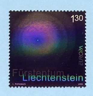 Liechtenstein Europa 2009 Astronomy Stamp